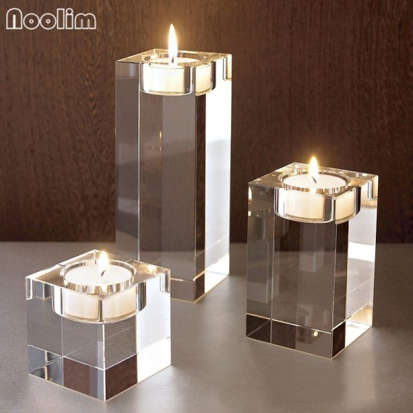 Crystal Candle Holder Decorative Stand 2