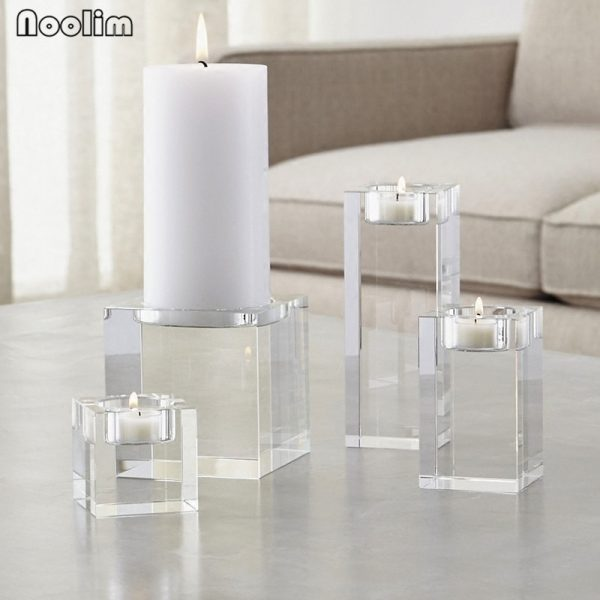 Crystal Candle Holder Decorative Stand 3