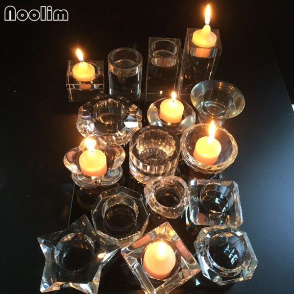 Crystal Candle Holder Decorative Stand 4