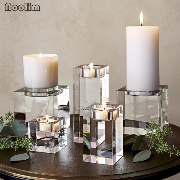 Crystal Candle Holder Decorative Stand