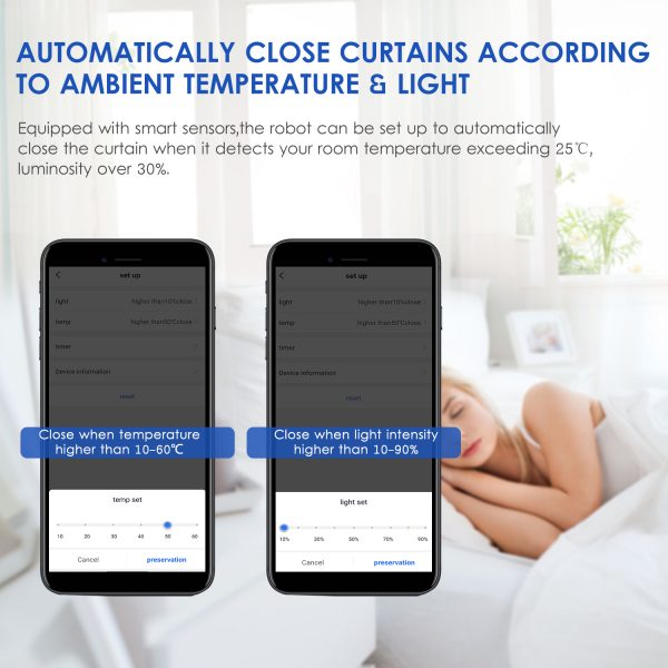 Curtain Robot Smart Automatic Wireless Smart Curtain Motor Timer Pack of 1 or 2 1