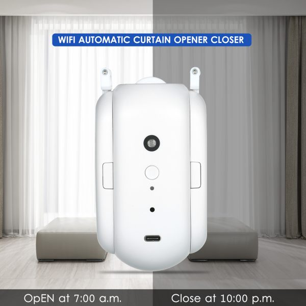 Curtain Robot Smart Automatic Wireless Smart Curtain Motor Timer Pack of 1 or 2 2
