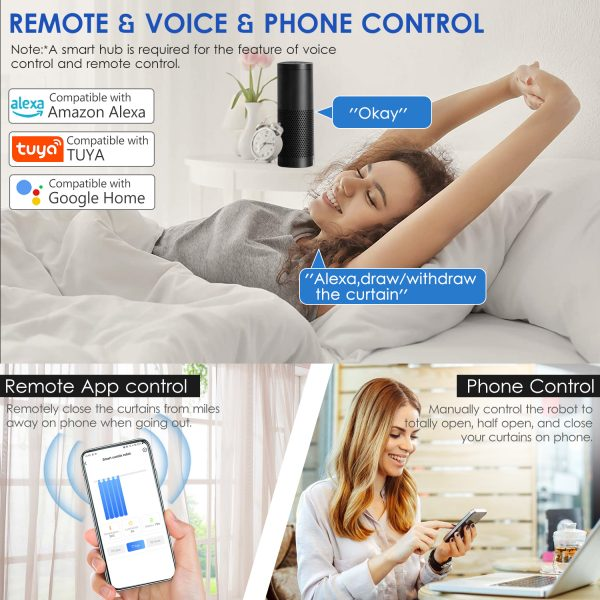 Curtain Robot Smart Automatic Wireless Smart Curtain Motor Timer Pack of 1 or 2 5