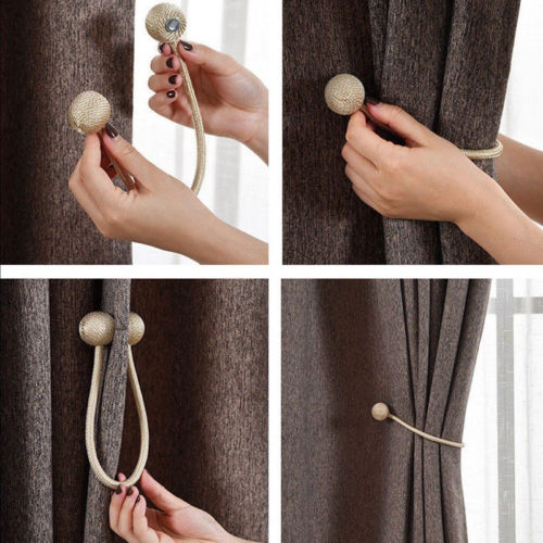 Curtain Tie Backs Magnetic Pearl Ball 1