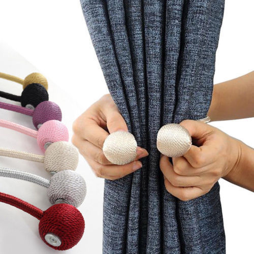 Curtain Tie Backs Magnetic Pearl Ball 2