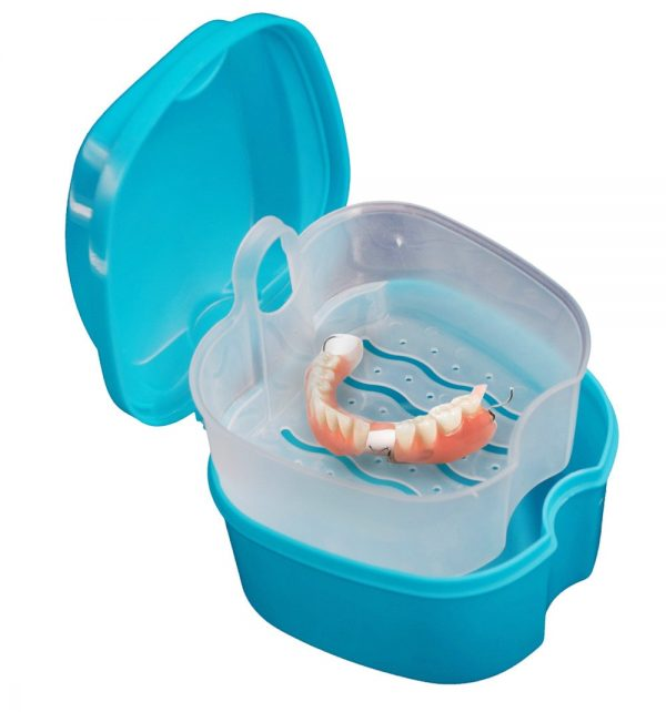 Denture Case with Hanging Net Container 3