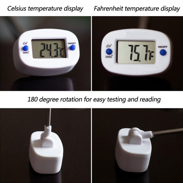 Digital Cooking Thermometer Steel Probe 2