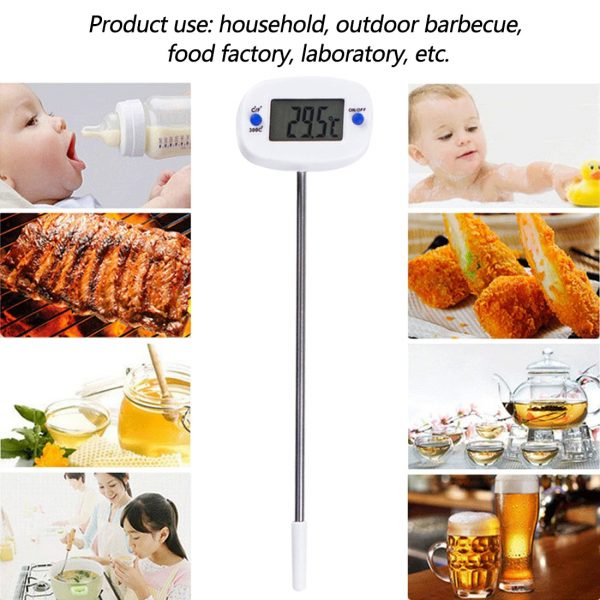 Digital Cooking Thermometer Steel Probe