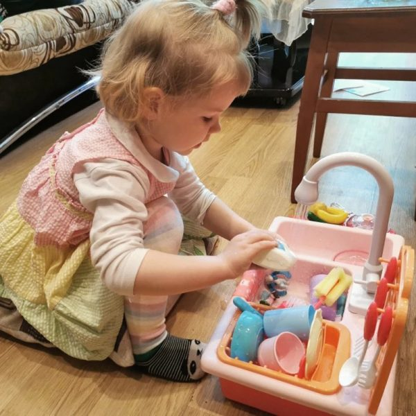Dishwasher Toys Children Play Better Cute Sink Toys By Hand 2