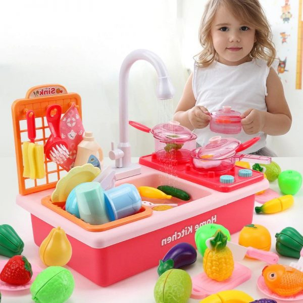 Dishwasher Toys Children Play Better Cute Sink Toys By Hand 3
