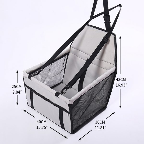 Dog Car Carrier Foldable Seat Carrier 4