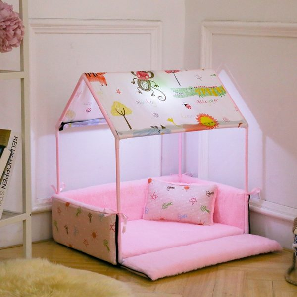 Dog Tent Bed Cozy Pet House 2