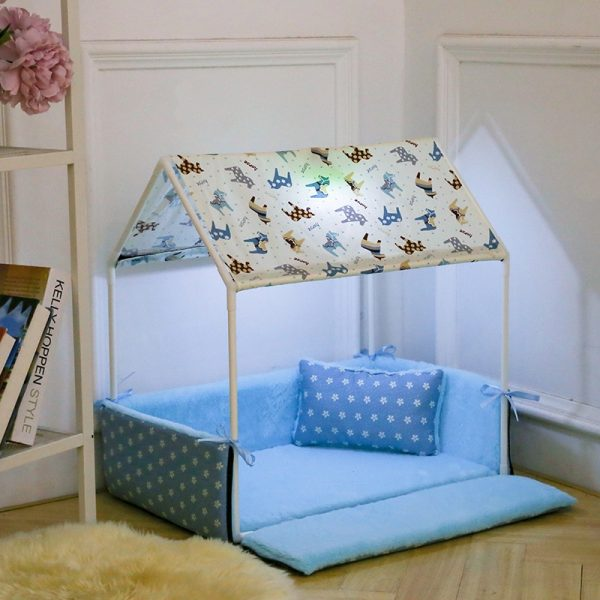 Dog Tent Bed Cozy Pet House 3