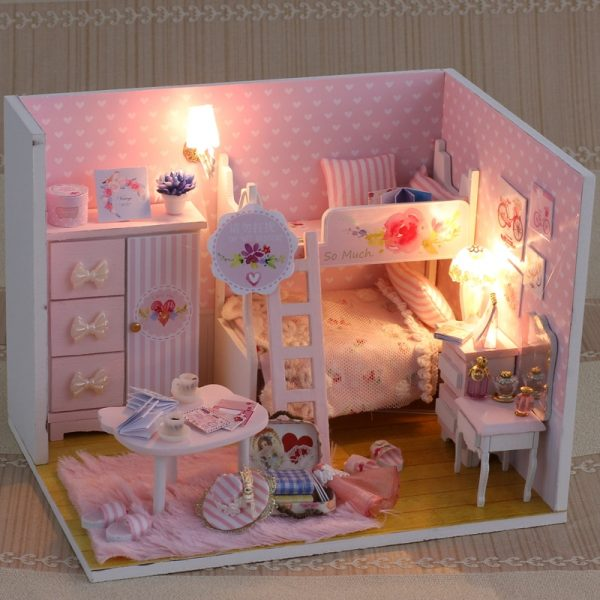 Doll House For Kids DIY Miniature Puzzle 1
