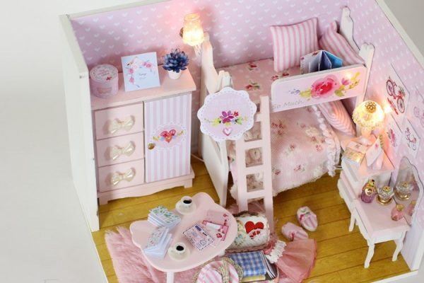 Doll House For Kids DIY Miniature Puzzle 2