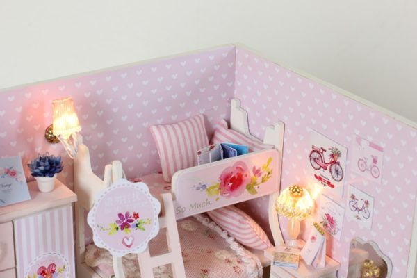 Doll House For Kids DIY Miniature Puzzle 3