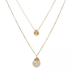 Double Chain Necklace Fashion Jewelry