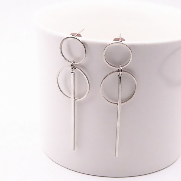 Drop Earrings In Gold and Silver 1