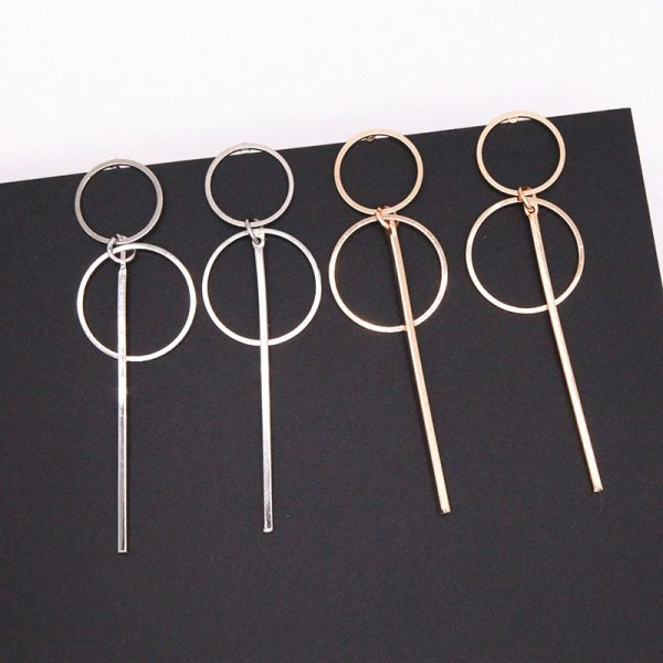 Drop Earrings In Gold and Silver 2