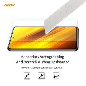ENKAY 1/2/5/10 Pcs Crystal Clear 2.5D Curved Edge 9H Anti-Explosion Anti-Scratch Tempered Glass Screen Protector for POCO X3 Pro / POCO X3 NFC