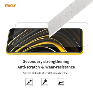 ENKAY 1/2/5Pcs for POCO M3 Front Film 9H 2.5D Ultra-Thin Anti-Scratch Anti-Explosion Tempered Glass Screen Protector