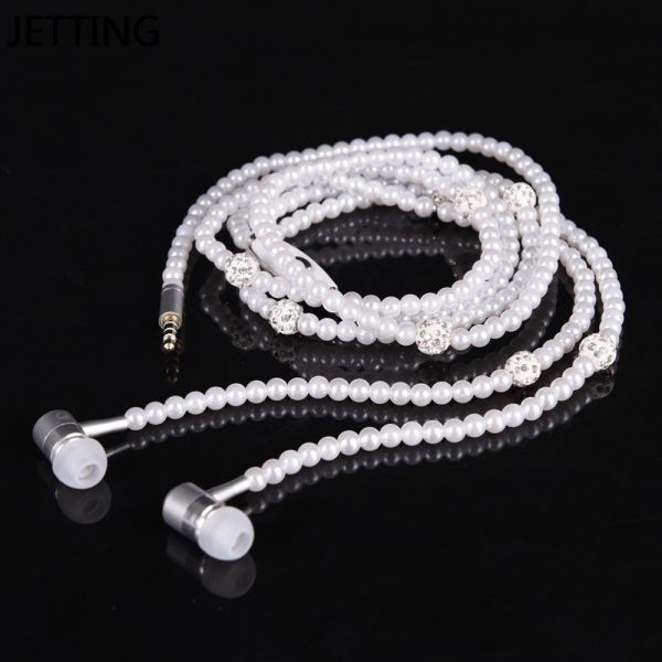 Earphone for Girls Beads Necklace