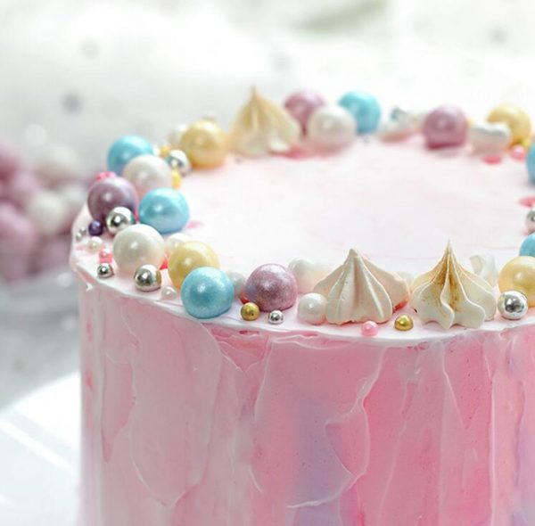 Edible Pearls Colorful Pastry Decoration 2