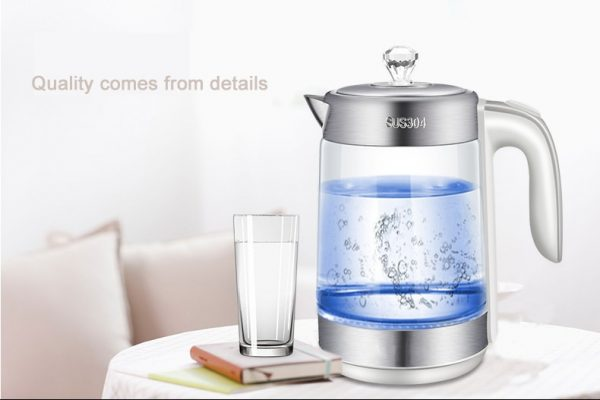 Electric Kettle Cordless Glass Heater 3