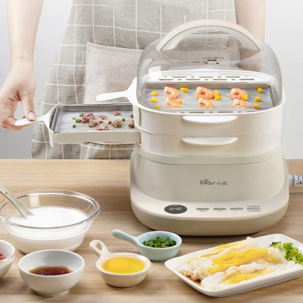 Electric Steam Cooker Food Steamer 4