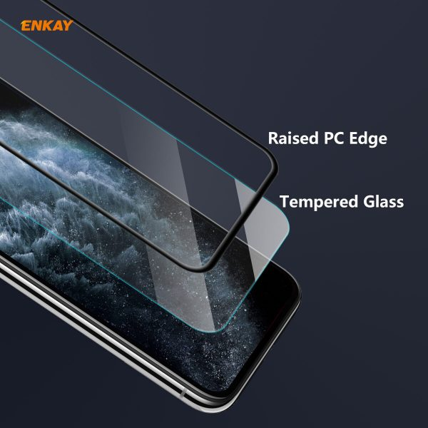Enkay 125 Pcs for iPhone 11 Pro Max XS Max Front Flim 9H Anti Explosion Full Coverage Tempered Glass Screen Protector 2