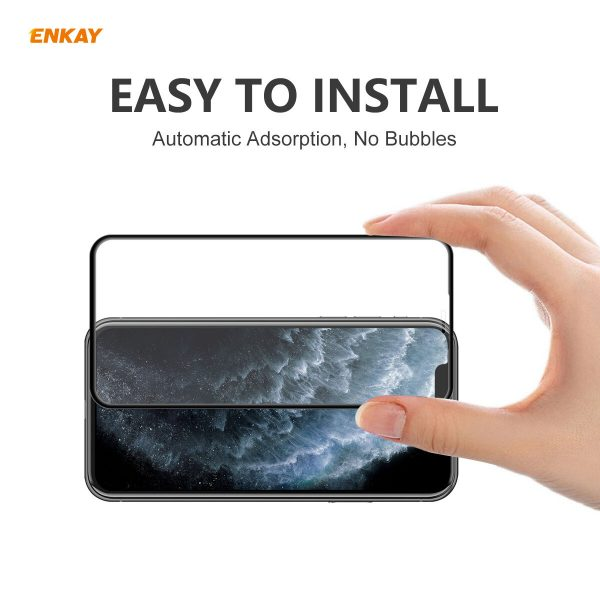 Enkay 125 Pcs for iPhone 11 Pro Max XS Max Front Flim 9H Anti Explosion Full Coverage Tempered Glass Screen Protector 3