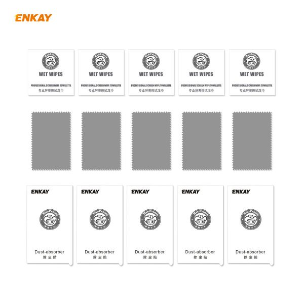 Enkay 125 Pcs for iPhone 11 Pro Max XS Max Front Flim 9H Anti Explosion Full Coverage Tempered Glass Screen Protector 5