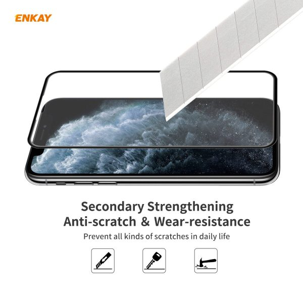 Enkay 1/2/5 Pcs for iPhone 11 Pro Max / XS Max Front Flim 9H Anti-Explosion Full Coverage Tempered Glass Screen Protector