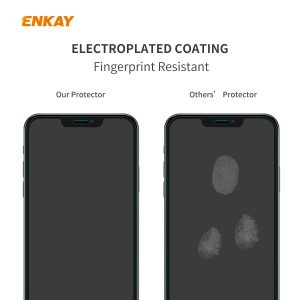 Enkay 1/2/5/10Pcs Crystal Clear 2.5D Curved Edge 9H Anti-Explosion Anti-Scratch Tempered Glass Screen Protector for iPhone 12 Pro / 12