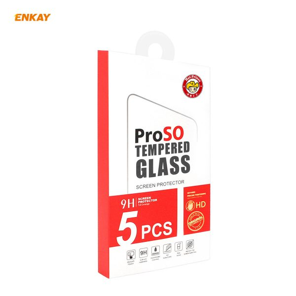 Enkay 12510Pcs Crystal Clear 2.5D Curved Edge 9H Anti Explosion Anti Scratch Tempered Glass Screen Protector for iPhone 12 Pro 12 8
