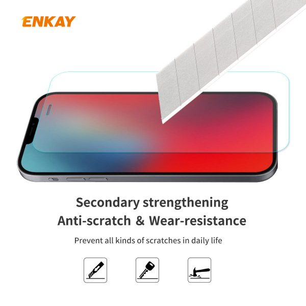 Enkay 12510Pcs Crystal Clear 2.5D Curved Edge 9H Anti Explosion Anti Scratch Tempered Glass Screen Protector for iPhone 12 Pro Max 1