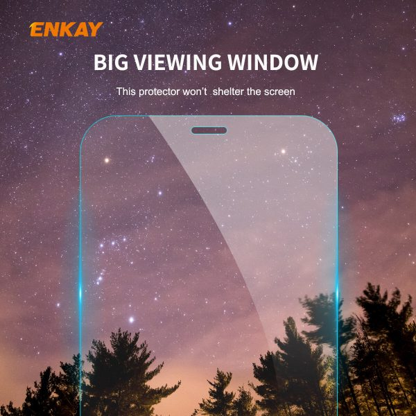 Enkay 12510Pcs Crystal Clear 2.5D Curved Edge 9H Anti Explosion Anti Scratch Tempered Glass Screen Protector for iPhone 12 Pro Max 2