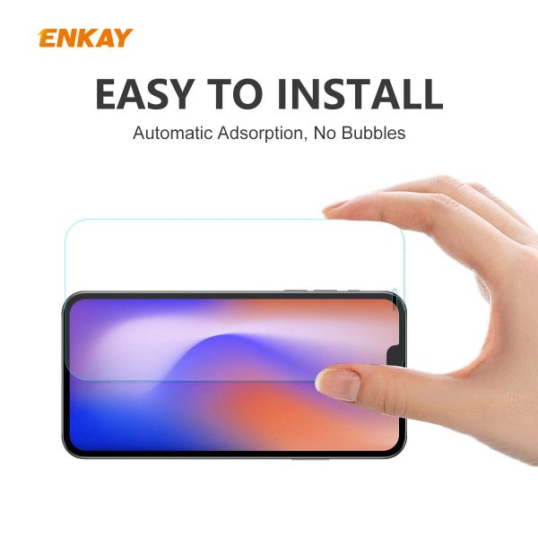 Enkay 12510Pcs Crystal Clear 2.5D Curved Edge 9H Anti Explosion Anti Scratch Tempered Glass Screen Protector for iPhone 12 Pro Max 4