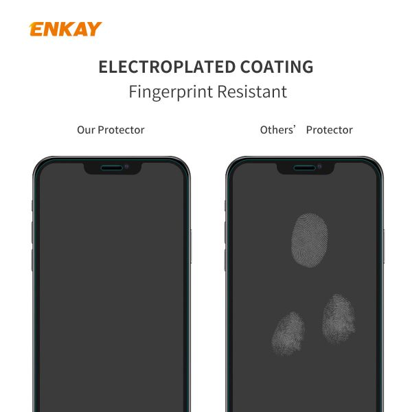 Enkay 1/2/5/10Pcs Crystal Clear 2.5D Curved Edge 9H Anti-Explosion Anti-Scratch Tempered Glass Screen Protector for iPhone 12 Pro Max