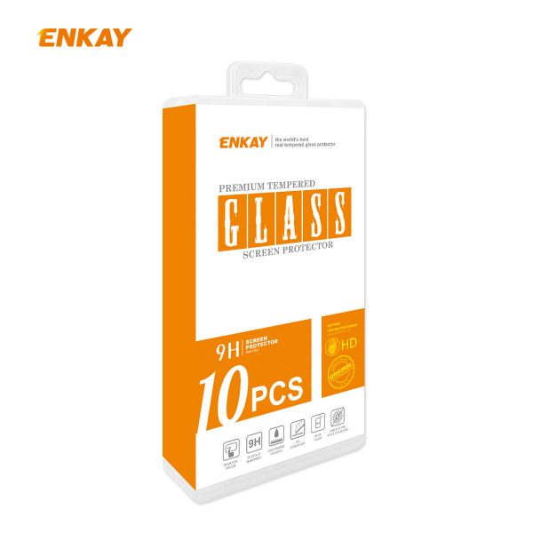 Enkay 12510Pcs Crystal Clear 2.5D Curved Edge 9H Anti Explosion Anti Scratch Tempered Glass Screen Protector for iPhone 12 Pro Max 7