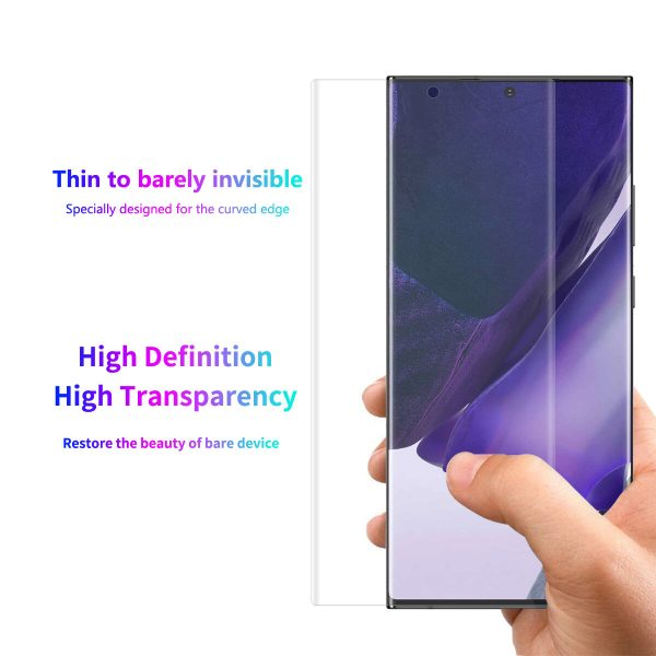 Enkay for Samsung Galaxy S21 Ultra 5G Galaxy S21 Ultra Front Film High Definition 3D Curved Edge Hot Blending Full Coverage Anti Scratch Soft PET Screen Protector 1