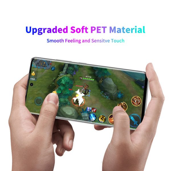 Enkay for Samsung Galaxy S21 Ultra 5G Galaxy S21 Ultra Front Film High Definition 3D Curved Edge Hot Blending Full Coverage Anti Scratch Soft PET Screen Protector 3