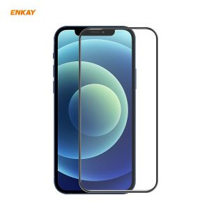 Enkay for iPhone 12 / 12 Pro Front Flim 9H Anti-Explosion Hot Blending Full Glue Full Coverage Tempered Glass Screen Protector