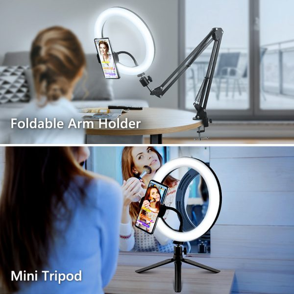 Exciting Selfie Ring Light With Mobile Holder 11