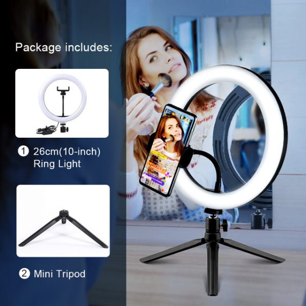 Exciting Selfie Ring Light With Mobile Holder