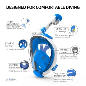 Face Mask Snorkel Swimming Accessory