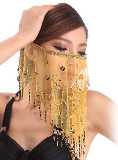Face Veil Belly Dancing Costume 3