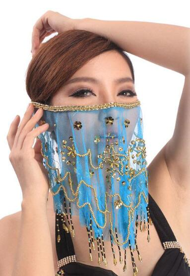Face Veil Belly Dancing Costume 4