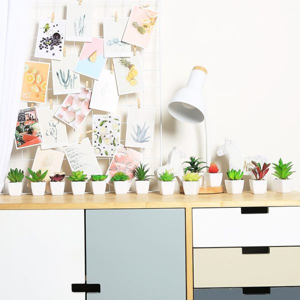 Fake Succulents Potted Artificial Plant 4