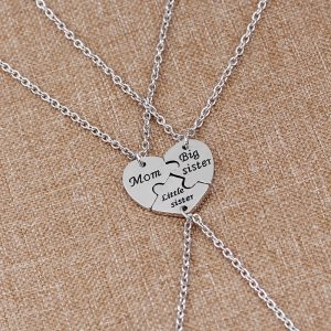 Family Necklace Mother Sister Pendants